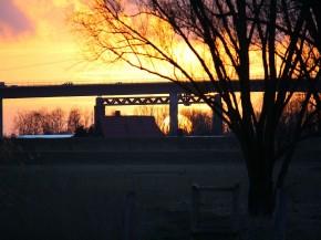 Blick zur neuen Störbrücke