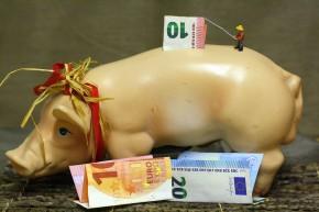 MiniaturAuswahlGeldAnglerSparschwein
